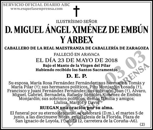 Miguel Ángel Ximénez de Embun y Arbex